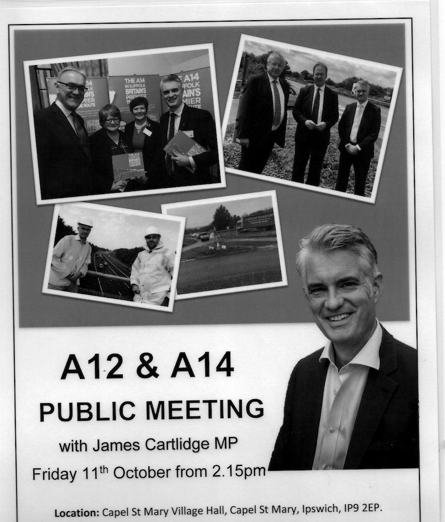 Invitation to a public meeting to discuss the A12 and A14